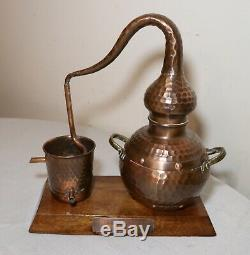 Rare handmade 1996 Portuguese Algarve copper brass moonshine still award trophy