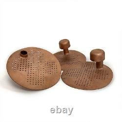 Set of 3 pcs perforated Copper Plates for distiller Moonshine still