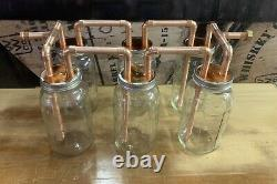 Six 1/2 Mason Jar Thumpers for Wide Mouth Half Gallon Mason Jars With Fitting