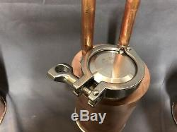 Small Copper Moonshine Still With Thump Keg. 1 Quart Size And Really Works