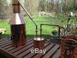 StillZ 6 Gallon Copper Moonshine Still+Thumper+Worm-Heavy 20oz Copper -Whiskey