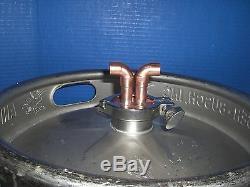 Thumper Doubler Beer Keg Kit whiskey Still Moonshine Head 2 x 1/2 Copper yes