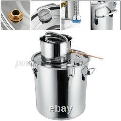 UK Moonshine 3/5/8GAL Alcohol Distiller Copper Wine Maker Water Still Boiler