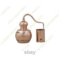Unused 5L Copper Moonshine Ethanol Alcohol Water Distiller Pot Still