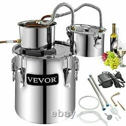 VEVOR Moonshine Still 3Gal 12L Alcohol Distiller Copper Tube With Circulating