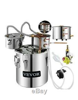 VEVOR Moonshine Still 5 Gal 21L Alcohol Distiller Copper Tube with