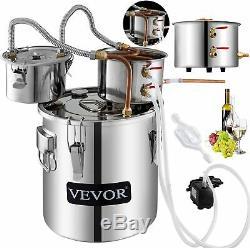 VEVOR Moonshine Still 9.6Gal 38L Alcohol Distiller Copper Tube With Circulating