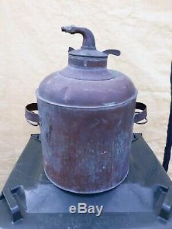 VINTAGE Antique COPPER MOONSHINE STILL TANK, CONTAINER Ethanol Part Boiler Pot