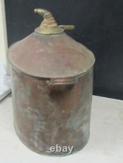 Vintage Antique Copper Moonshine Still Mash Grain 6 Gal. Boiler Alcohol Whiskey