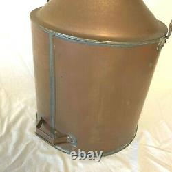 Vintage Copper Boiler Still Moonshine Grain Kettle Handle Screw on Lid Spigot