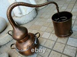 Vintage Copper Distillery Alambicco Alembic Still Moonshine & Whiskey 2 Litre