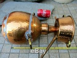 Vintage Copper Distillery Alambicco Alembic Still Moonshine & Whiskey Alquitarra