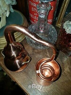 Vintage Copper Spirit Gin Still Moonshine curio display