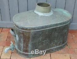 Vintage Copper moonshine Still Antique Basin Jug handles and spigot spout
