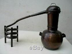 Vintage Distillery Alambicco Alembic Still Moonshine & Whiskey Brass 0,8 Litres
