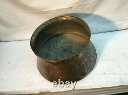 Vintage Large Copper Tub Moon shine Still Corn Mash Boiler Pot No Lid
