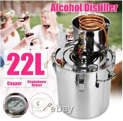 Wine Alcohol Distiller Moonshine Still Alcohol Copper Bubble Plate8L/10L/22L/35L